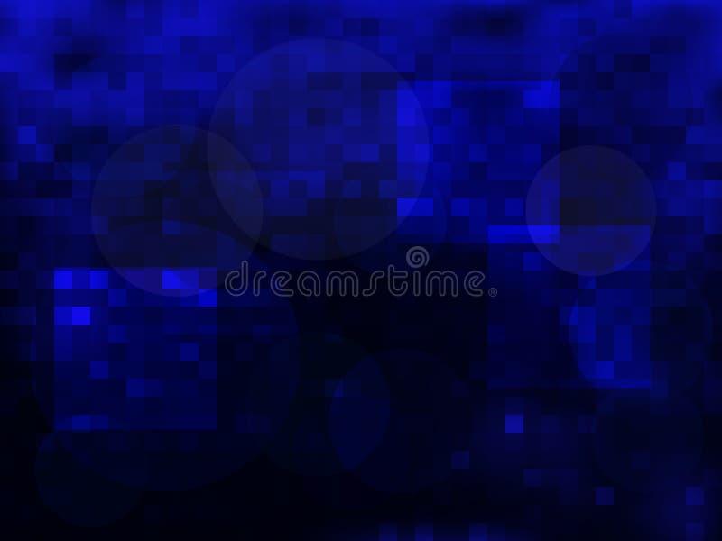 Fundo azul do sumário do vetor da escuridão ilustração stock