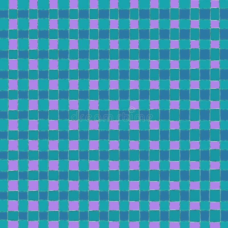 Fundo azul do teste padrão do quadrado da verificação do porto ilustração royalty free