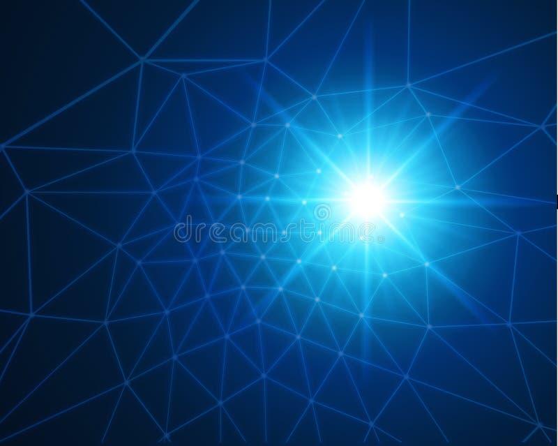 Fundo azul do Web da tecnologia ilustração royalty free