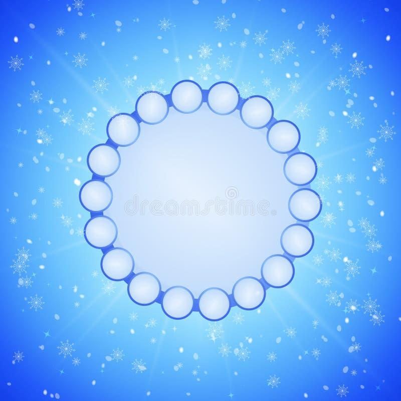 Fundo azul do xmas do inverno ilustração royalty free