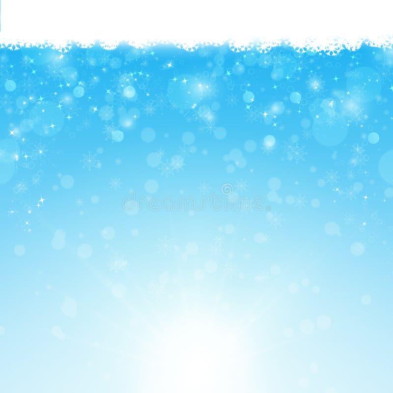 Fundo azul do xmas do inverno ilustração stock