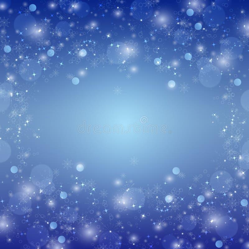 Fundo azul do xmas do inverno ilustração do vetor