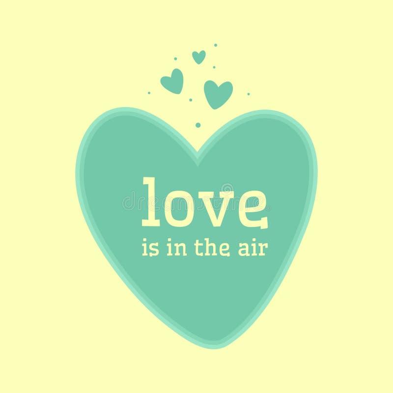 Fundo azul dos corações Cartão do dia dos Valentim ilustração royalty free