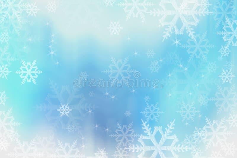 Fundo azul dos flocos de neve imagem de stock royalty free