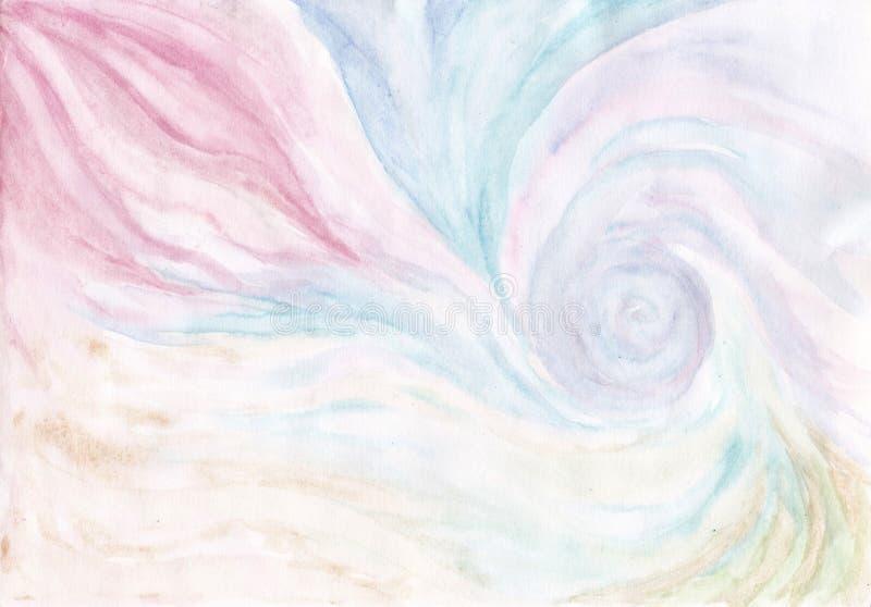 Fundo azul e cor-de-rosa abstrato da aquarela fotos de stock royalty free