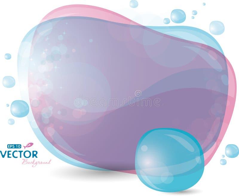 Fundo azul e do lilac ilustração royalty free