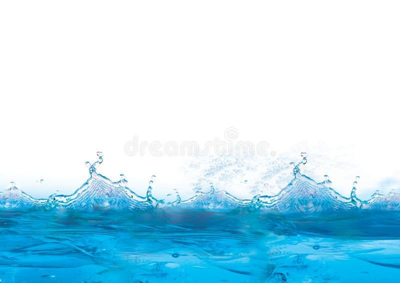 Fundo azul e gelado fresco ilustração do vetor