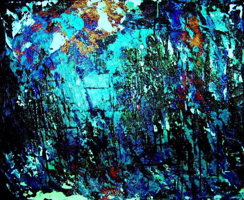 Fundo, azul e preto de Grunge ilustração stock