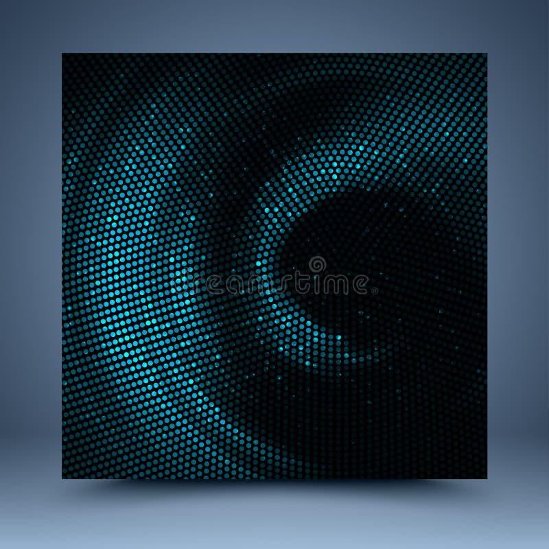 Fundo azul e preto do sumário do mosaico ilustração stock