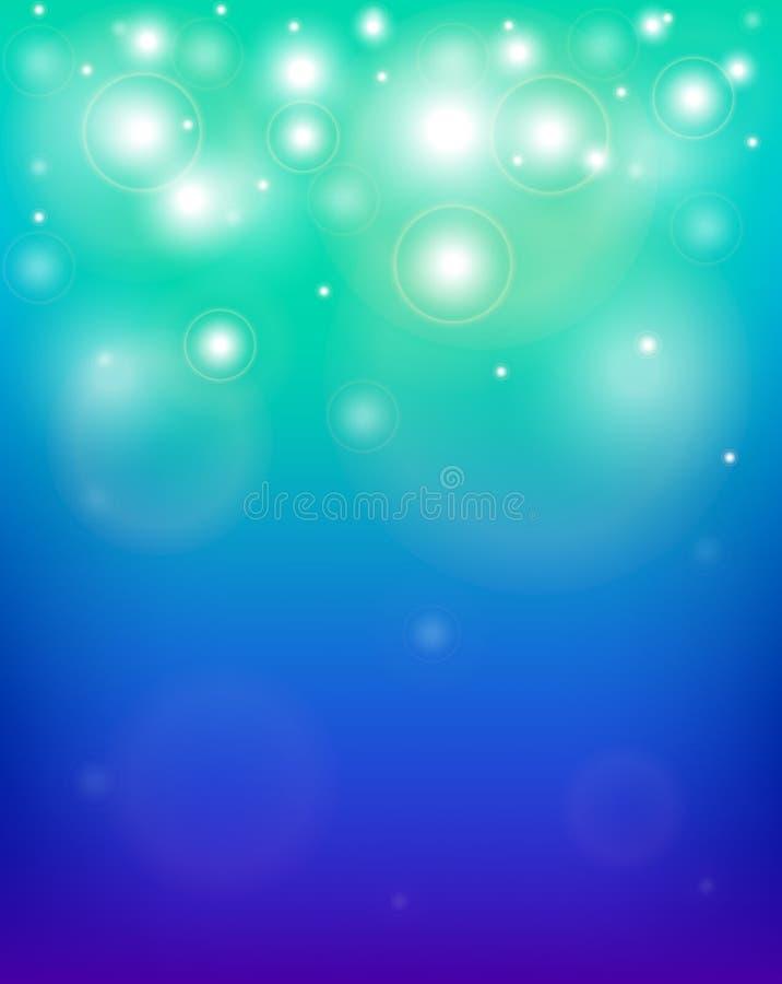 Fundo azul e roxo abstrato com sparkles ilustração royalty free