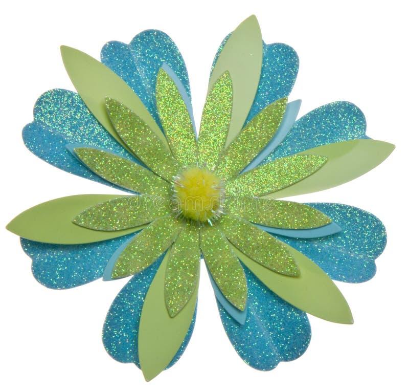 Fundo azul e verde da flor imagem de stock