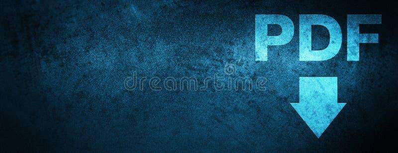 Fundo azul especial da bandeira do ícone da transferência do pdf ilustração do vetor