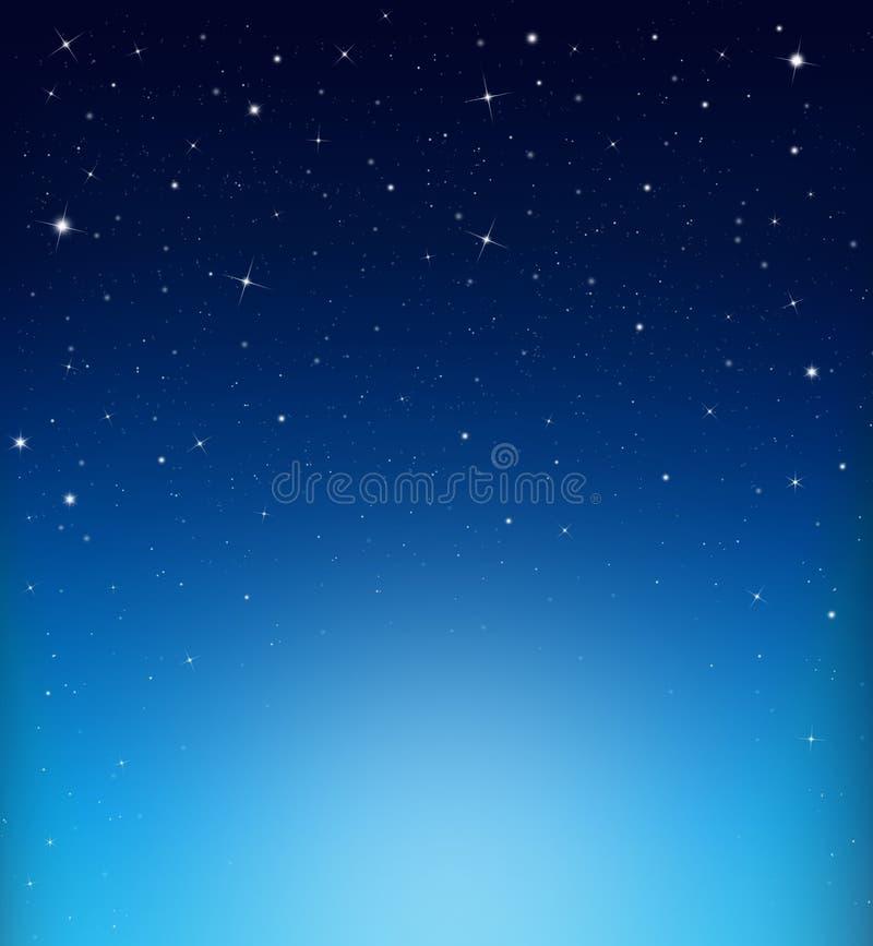 Fundo azul estrelado abstrato imagem de stock