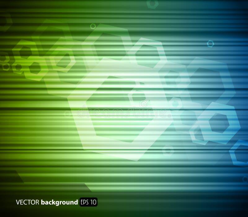 Fundo azul esverdeado abstrato ilustração stock