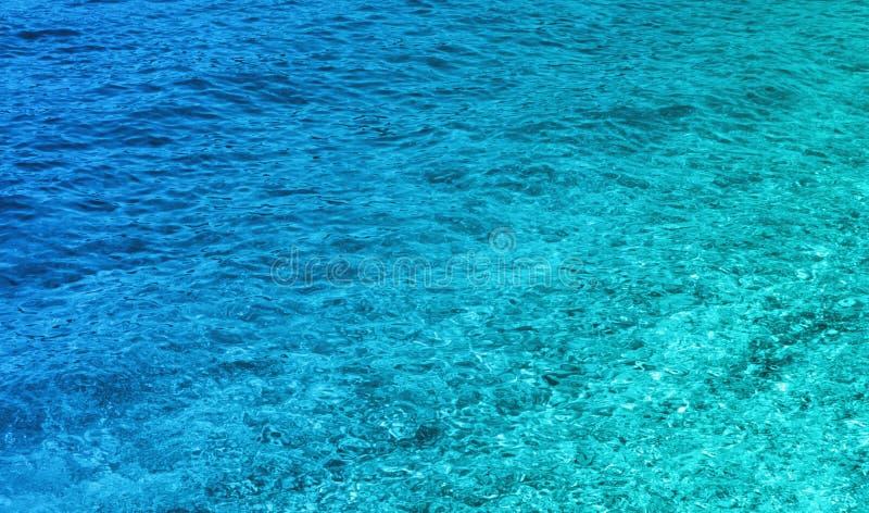 Fundo azul fantástico do mar Mar Mediterrâneo, Montenegro, Eu fotografia de stock