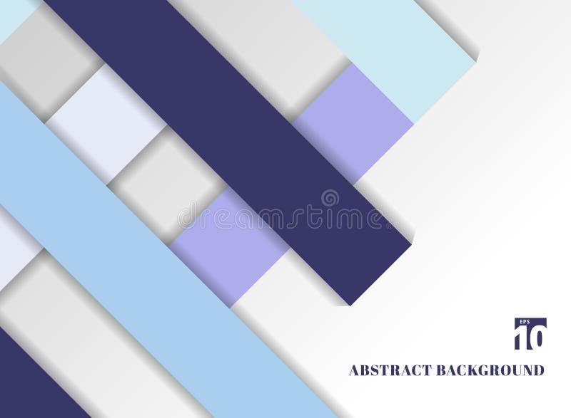 Fundo azul geométrico do tom da cor do sumário do molde com squa ilustração royalty free
