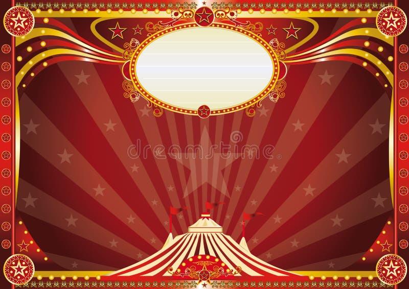 Fundo azul horizontal do circo ilustração royalty free