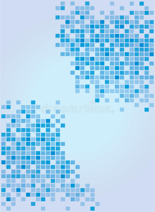 Fundo azul macio abstrato ilustração do vetor
