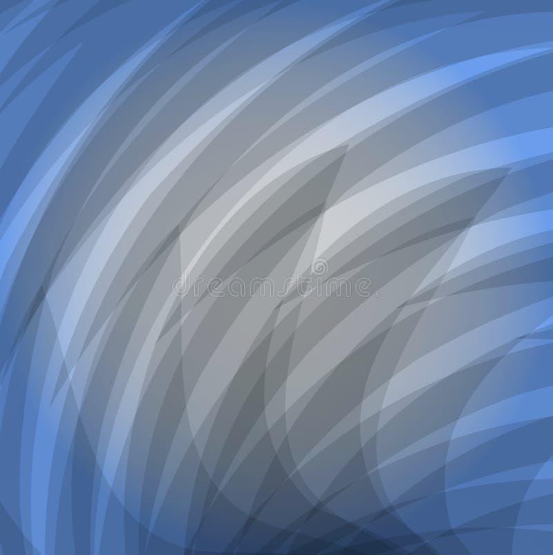 Fundo azul moderno abstrato Linhas cinzentas ilustração do vetor