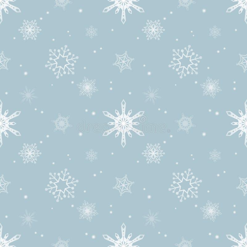Fundo azul pastel da cor da camada do matiz do teste padrão do floco de neve ilustração do vetor