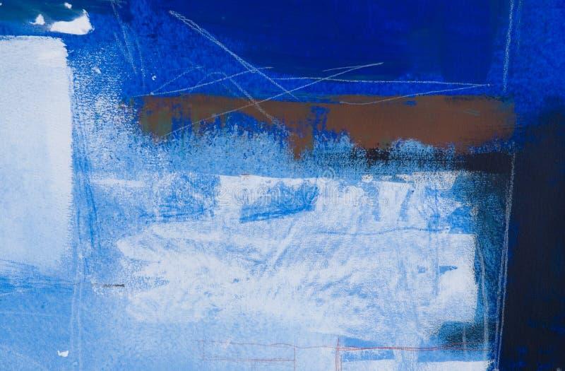 Fundo azul pintado ilustração do vetor