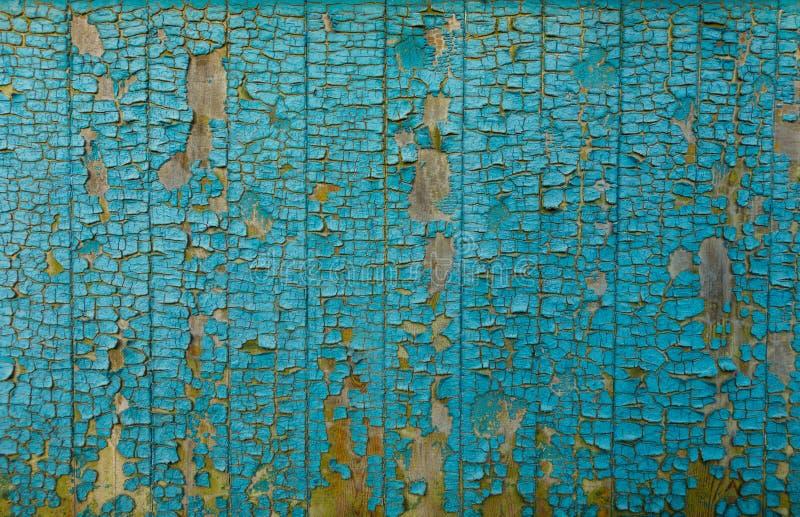 Fundo azul pintado rachado da textura da parede imagem de stock royalty free