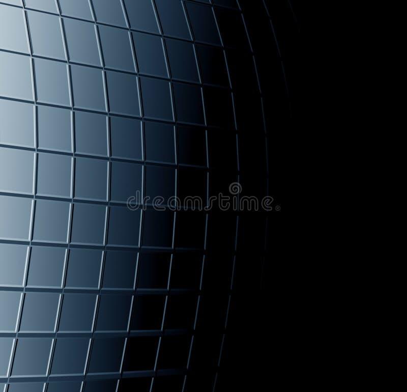 Fundo azul preto abstrato ilustração stock