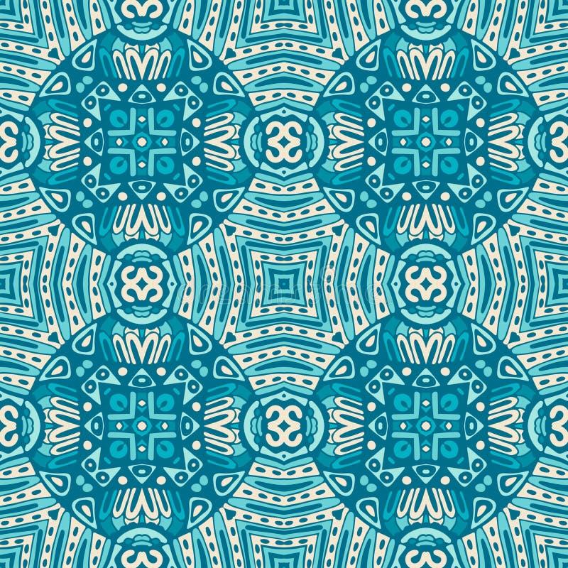 Fundo azul sem emenda geométrico do mosaico ilustração royalty free