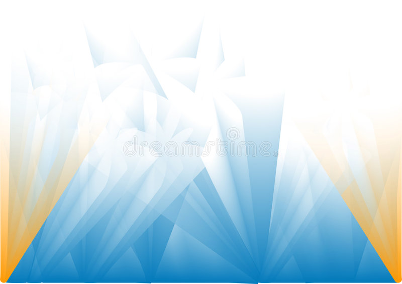 Fundo azul Sparkling ilustração stock