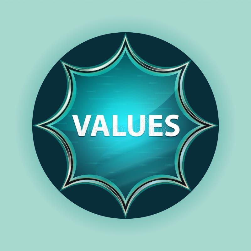 Fundo azul sunburst vítreo mágico dos azul-céu do botão dos valores ilustração do vetor
