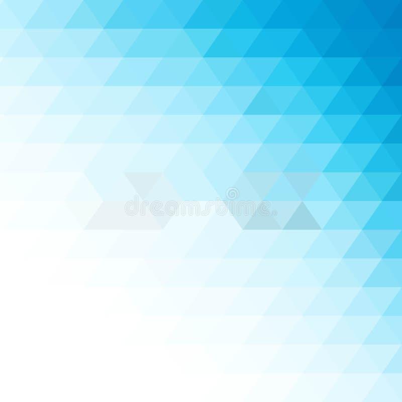 Fundo azul triangular disposição para anunciar, bandeira - Vektorgrafik ilustração royalty free