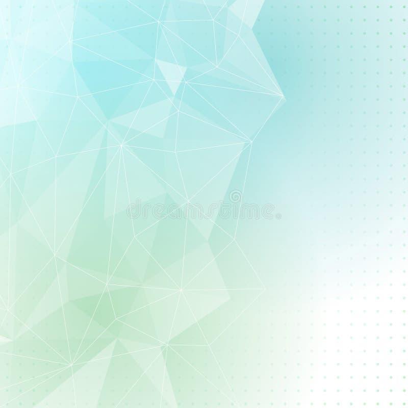 Fundo azul verde do sumário da estrutura de cristal ilustração do vetor