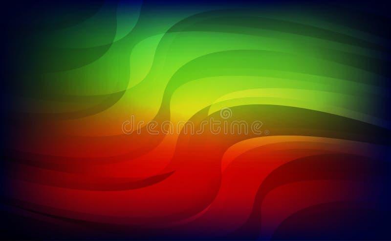 Fundo azul verde vermelho claro abstrato ilustração stock