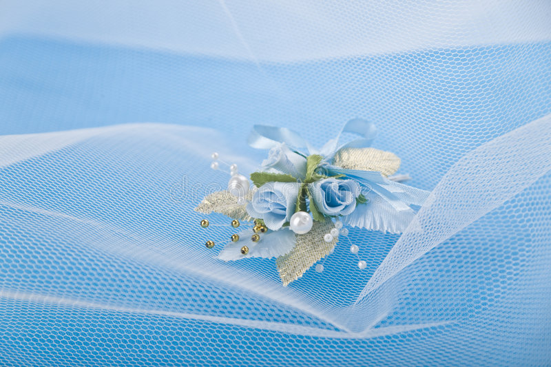 Fundo azul Wedding fotos de stock royalty free