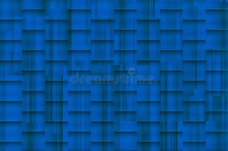 Fundo azulado distorcido com sombras arquitetónicas imagens de stock