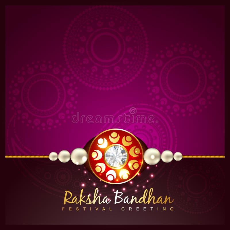 Fundo bandhan do festival de Raksha ilustração do vetor