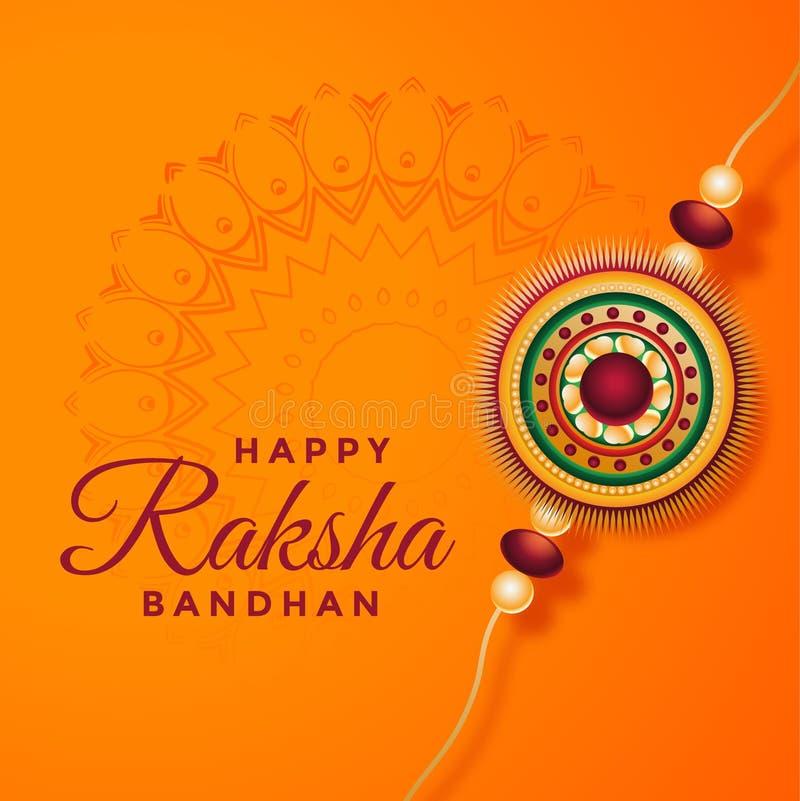 Fundo bandhan do festival de Raksha com rakhi decorativo ilustração royalty free