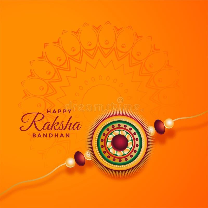 Fundo bandhan do festival de Raksha com rakhi decorativo ilustração do vetor