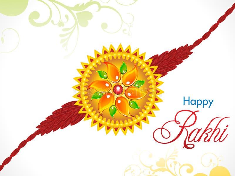 Fundo bandhan do rakhi do raksha abstrato ilustração stock