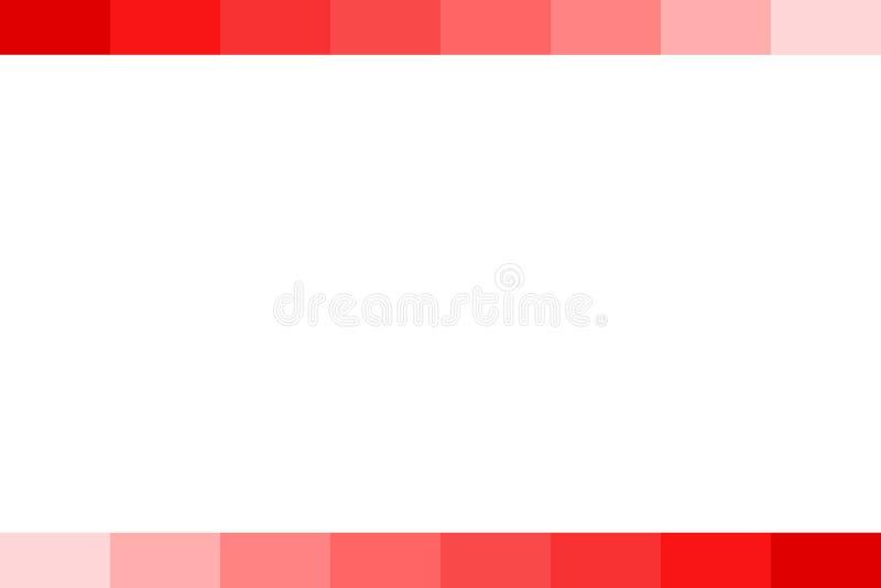 Fundo - barra gradual vermelha, isolada no branco ilustração royalty free