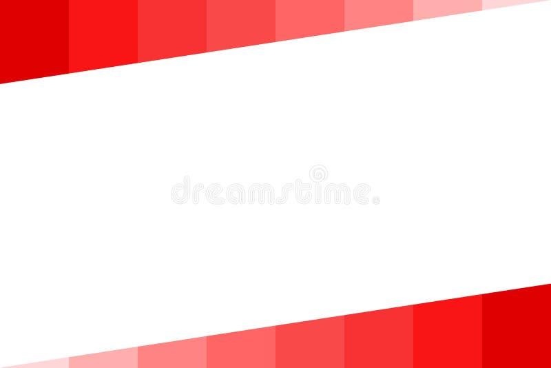 Fundo - barra gradual vermelha, isolada no branco ilustração stock