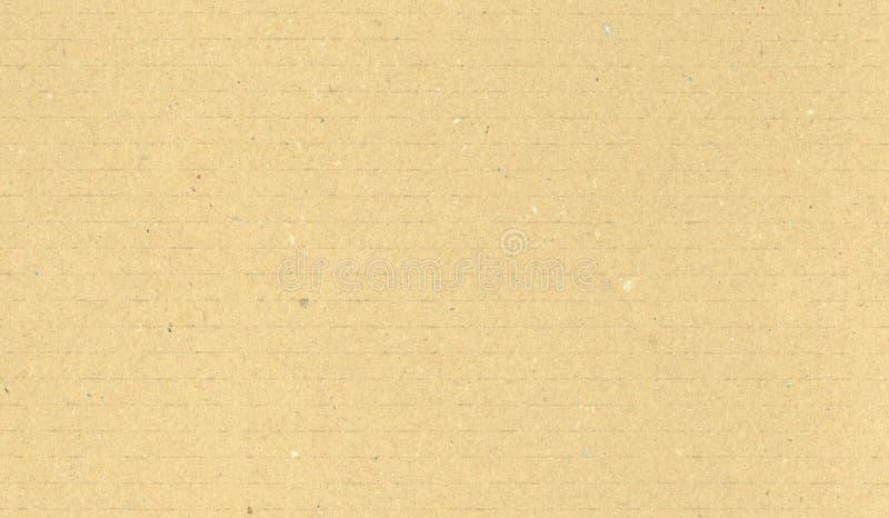 Fundo bege da textura do cartão ondulado foto de stock royalty free