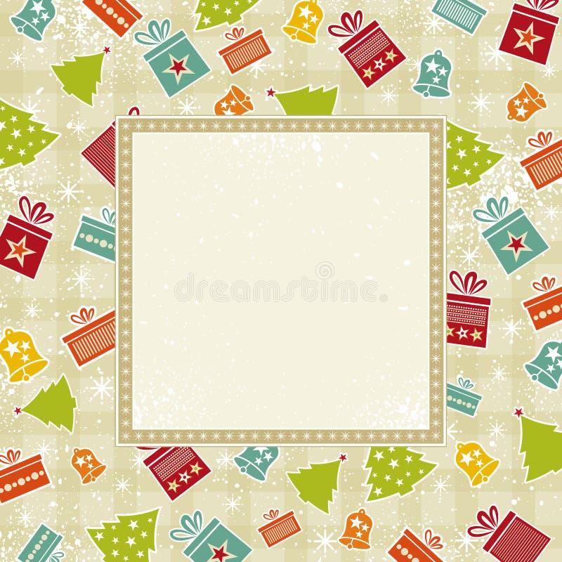 Fundo bege do Natal ilustração stock