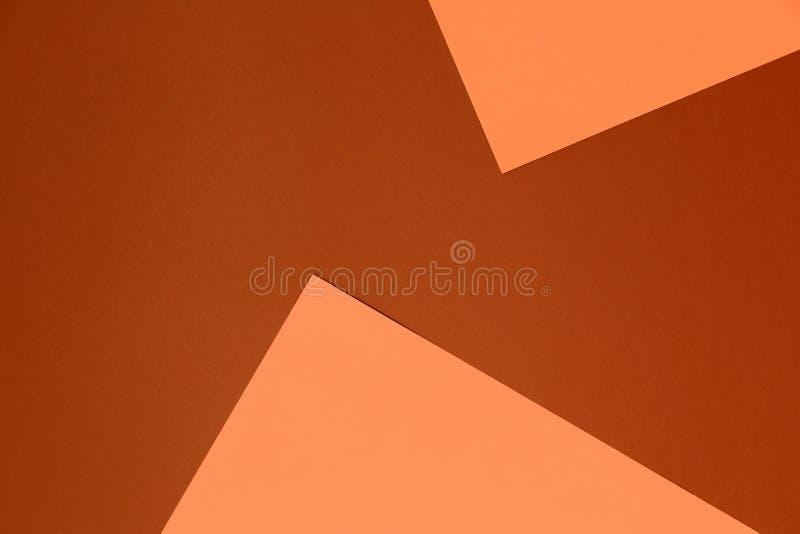Fundo bege e marrom pastel Textura colorida Conceito mínimo Conceito creativo Pop art imagem de stock