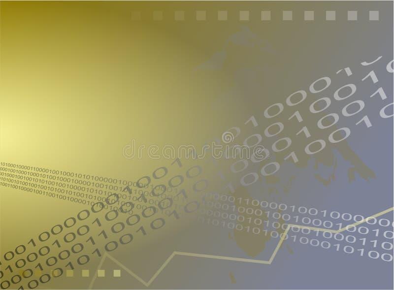 Fundo binário ilustração do vetor