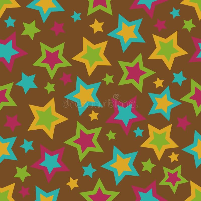 Fundo bold(realce) das estrelas ilustração do vetor