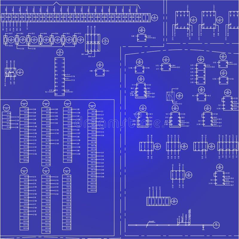 Fundo bonde do diagrama de fiação ilustração royalty free