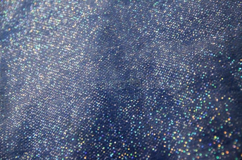 Fundo bonito, azul com sparkles Fundo do Natal fotografia de stock