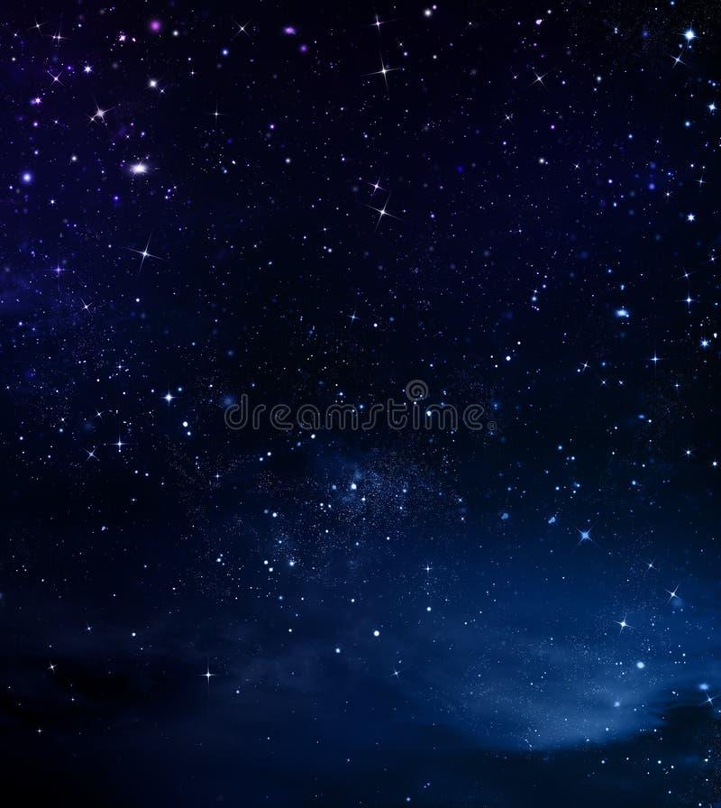 Fundo bonito, céu noturno ilustração royalty free
