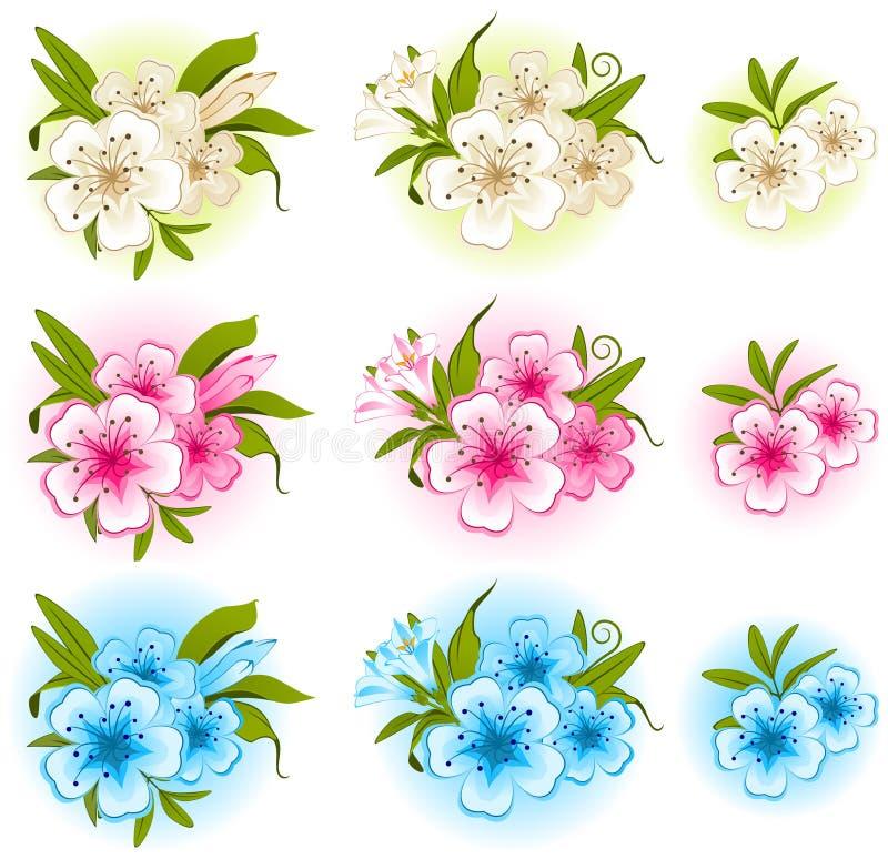 Fundo bonito com flores ilustração stock